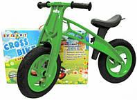 "Машина каталка - толокар,біговел ""Cross Bike"" EVA,12"" зелена №11-016/Кіндер-Вей/"
