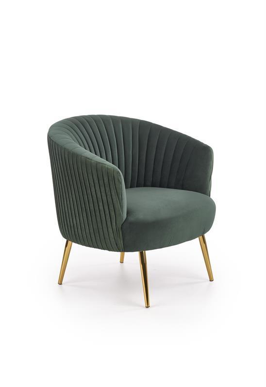 Кресло CROWN темно зеленый (Halmar)