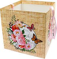 "Коробка подарункова папер. ""Ретро"" 30х30х30см №N00388(120)"