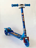 Cамокат Scooter детский металлический Синий