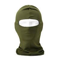 Шапка маска балаклава лайкра, подшлемник  летний Хаки