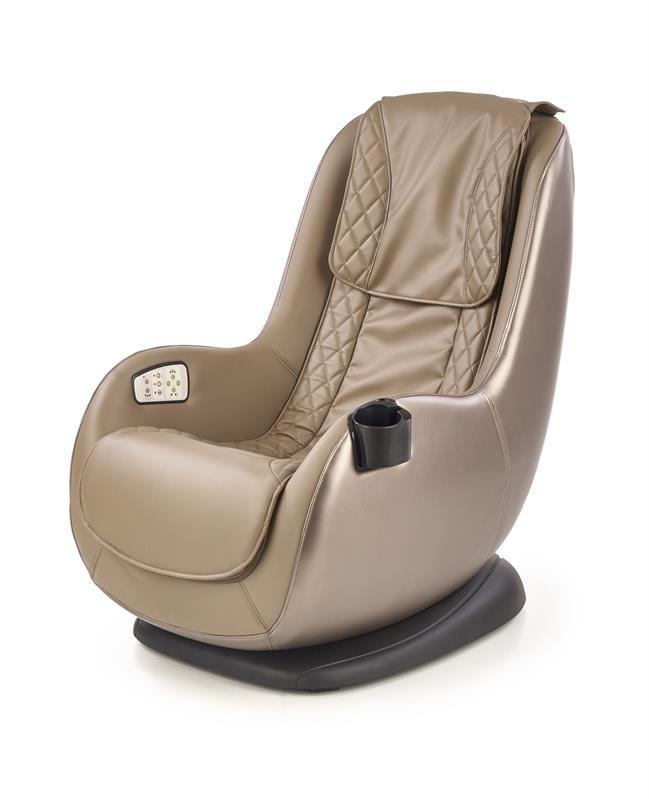 Кресло DOPIO бежевый с массажной функцией (USB розетка) (Halmar)
