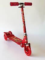 Cамокат Scooter детский металлический Красный