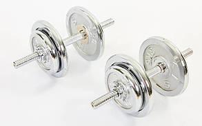 Гантелі розбірні хромовані 2 х 11 кг (22 кг) ТА-1435-22