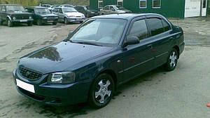 Ветровики Hyundai Accent II Sd 1999-2005; Tagaz 2001  дефлекторы окон