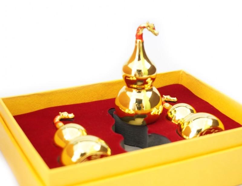 9180010 Набор тыква Улоу Дракон 3 штуки. Метал в золотом цвете