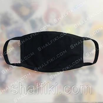 """""""Без принта"""" черная защитная маска"""