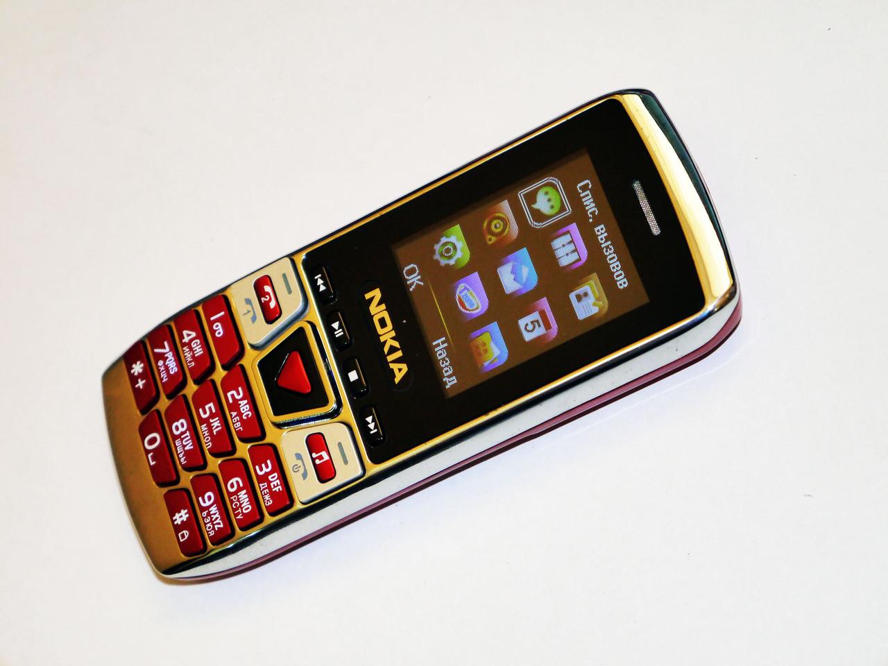 """Телефон Nokia J8 Металл Красный - 2Sim + 1,8"""" + BT + Cam + Fm"""