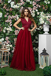 Платье в пол шикарное в расцветках 377321
