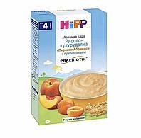 Каша молочна Рисово-кукурудзяна і Персик,абрикос з пребіотиками Hipp (Хіпп)з 4 міс, 250 гр.Не містить глютен.