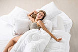 Подушка холлофайбер 50x70 средней жесткости с внутренней подушкой на молнии Air Dream Exclusive IDEIA, фото 5