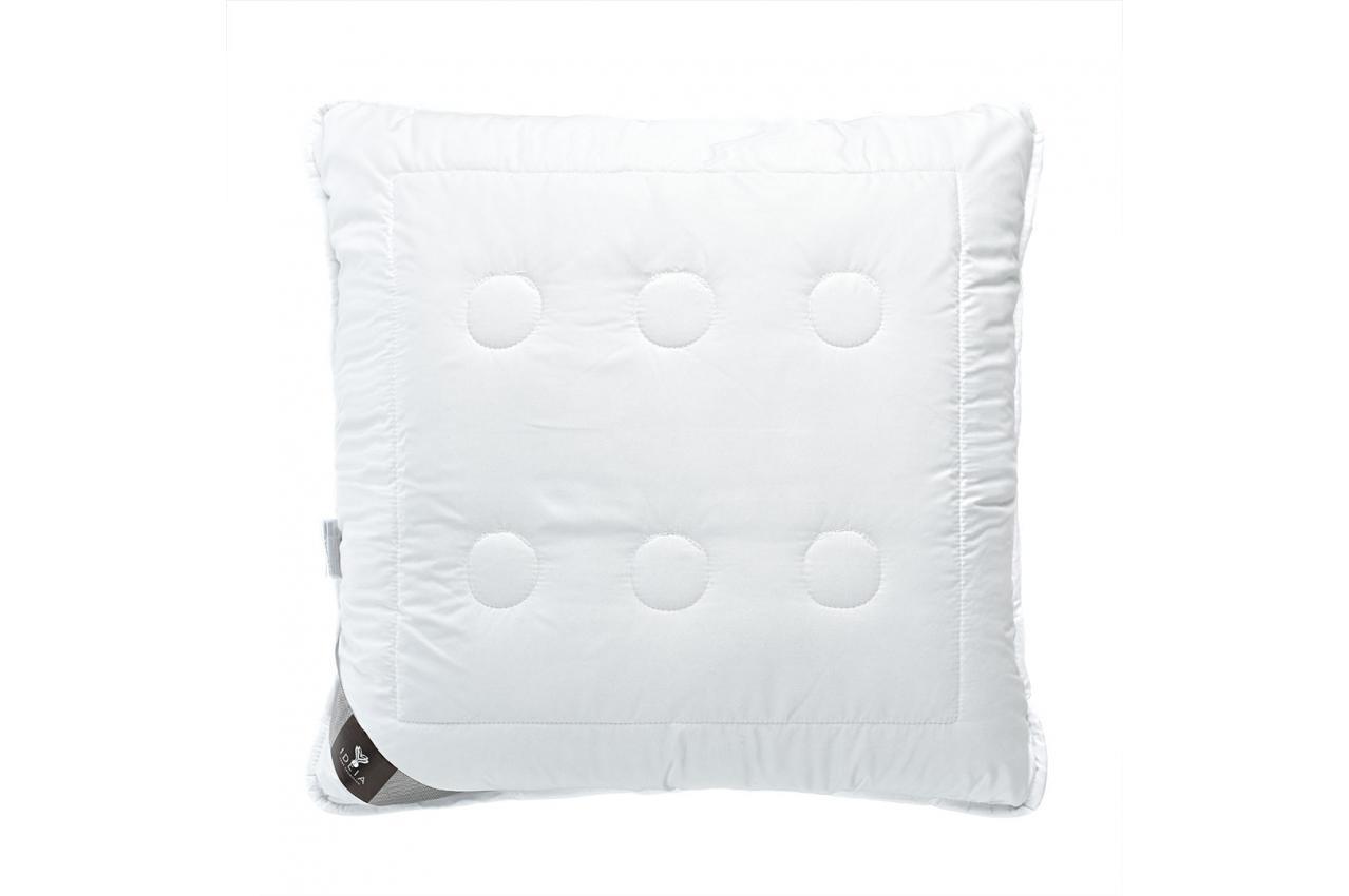 Подушка холлофайбер 70x70 середньої жорсткості з внутрішньою подушкою на блискавці Air Dream Exclusive IDEIA