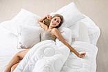 Подушка холлофайбер 70x70 середньої жорсткості з внутрішньою подушкою на блискавці Air Dream Exclusive IDEIA, фото 5