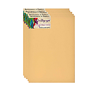Бавовняне полотно 30*40(бокова натяжка, бавовна,середнє зерно, колір охра )