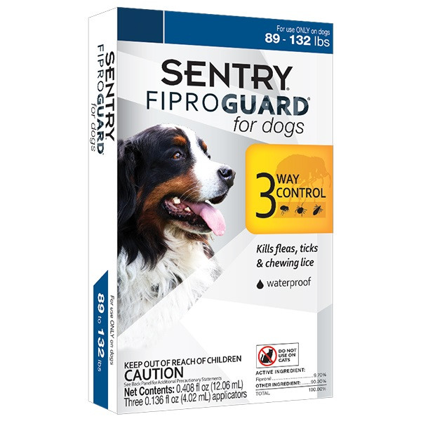 Капли FiproGuard от блох, клещей и вшей для собак весом 40-60 кг 1 пипетка