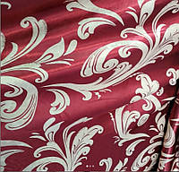 Ткань для штор блэкаут бархатный завиток Бордо