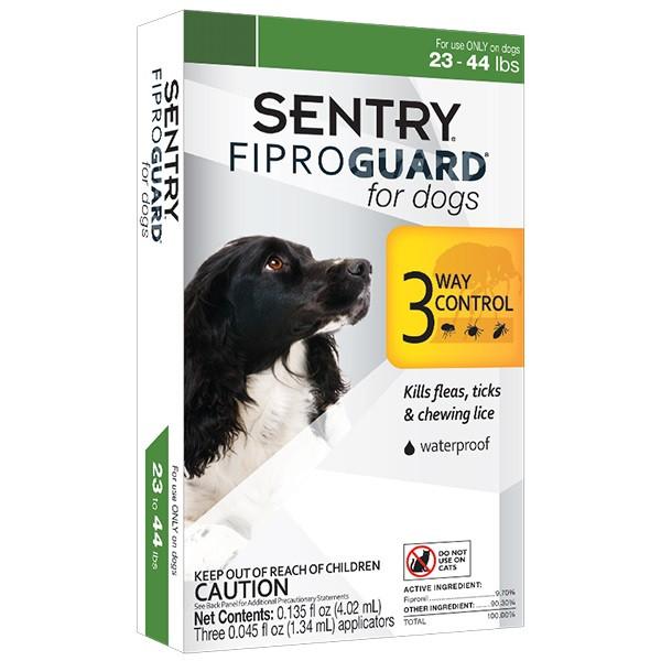 Капли FiproGuard от блох, клещей и вшей для собак весом 10-20 кг 1 пипетка