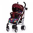 Прогулочная коляска-трость Carrello Allegro (красный цвет), фото 4