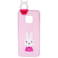 Чехол Cartoon 3D Case для Huawei Mate 20 Pro Кролик