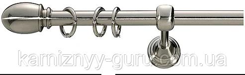 Карниз для штор ø 19 мм, одинарный, наконечник Беллуно