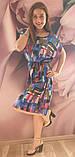 Платье в клетку,штапель, фото 9