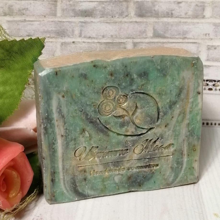 Натуральное мыло ручной работы с Алоэ Вера и соком огурца
