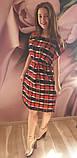 Плаття в клітинку,штапель, фото 2