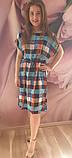 Плаття в клітинку,штапель, фото 3