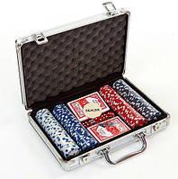 Набір для покеру в алюмінієвому кейсі IG-2056 на 200 фішок, фото 1