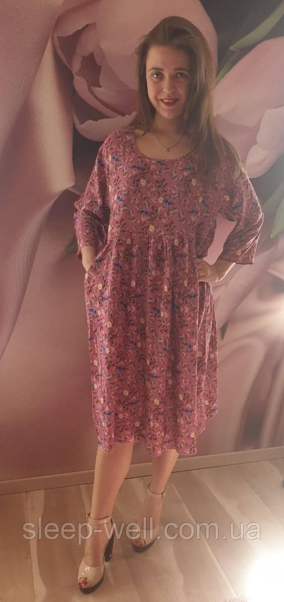 Платье штапельное, 1990