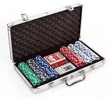 Набір для покеру в алюмінієвому кейсі IG-2056 на 300 фішок