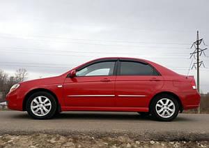 Ветровики Kia Cerato I Sd 2004-2008  дефлекторы окон