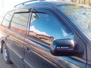 Ветровики Kia Joice 5d 1999-2003  дефлекторы окон