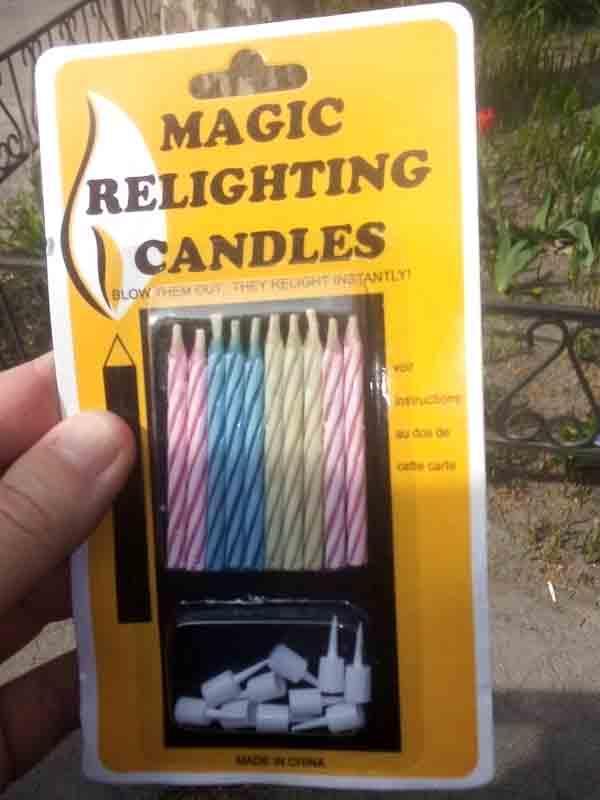 Свеча в торт Магическая 24001 Magic