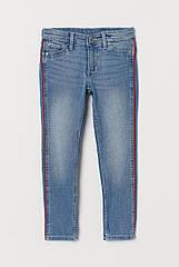 Дитячі джинси для дівчинки H&M з лампасами (ейч енд ем)