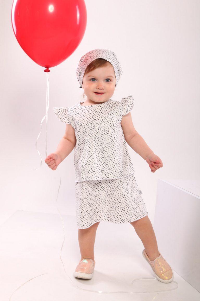 Платье сарафан летнее для девочек (белое) 1-4 лет