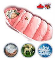 Дутый зимний конверт-трансформер для малыша.