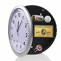 🔝 Часы-тайник настенные (металлик, круглые 25 см диаметр) на стену (кухню, зал) настінний годинник | 🎁%🚚