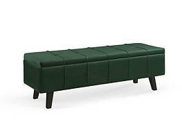 Прикроватная банкетка  MASSIMO темно зеленый velvet (с нишей) (Halmar)