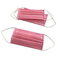 Маска медицинская для лица Спецмедпошив одноразовая двухслойная защитная розовая, упаковка 30 шт