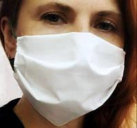 Хлопковая защитная маска для лица многоразовая ( ткань -бязь) от 20шт, фото 1
