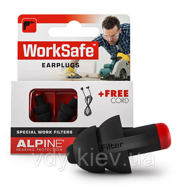Беруши для работы в шуме Alpine WorkSafe