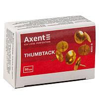 "Кнопки ""Axent"" 4202 мідь 50шт"