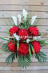 Искусственные цветы - Хризантема с каллой композиция, 70 см