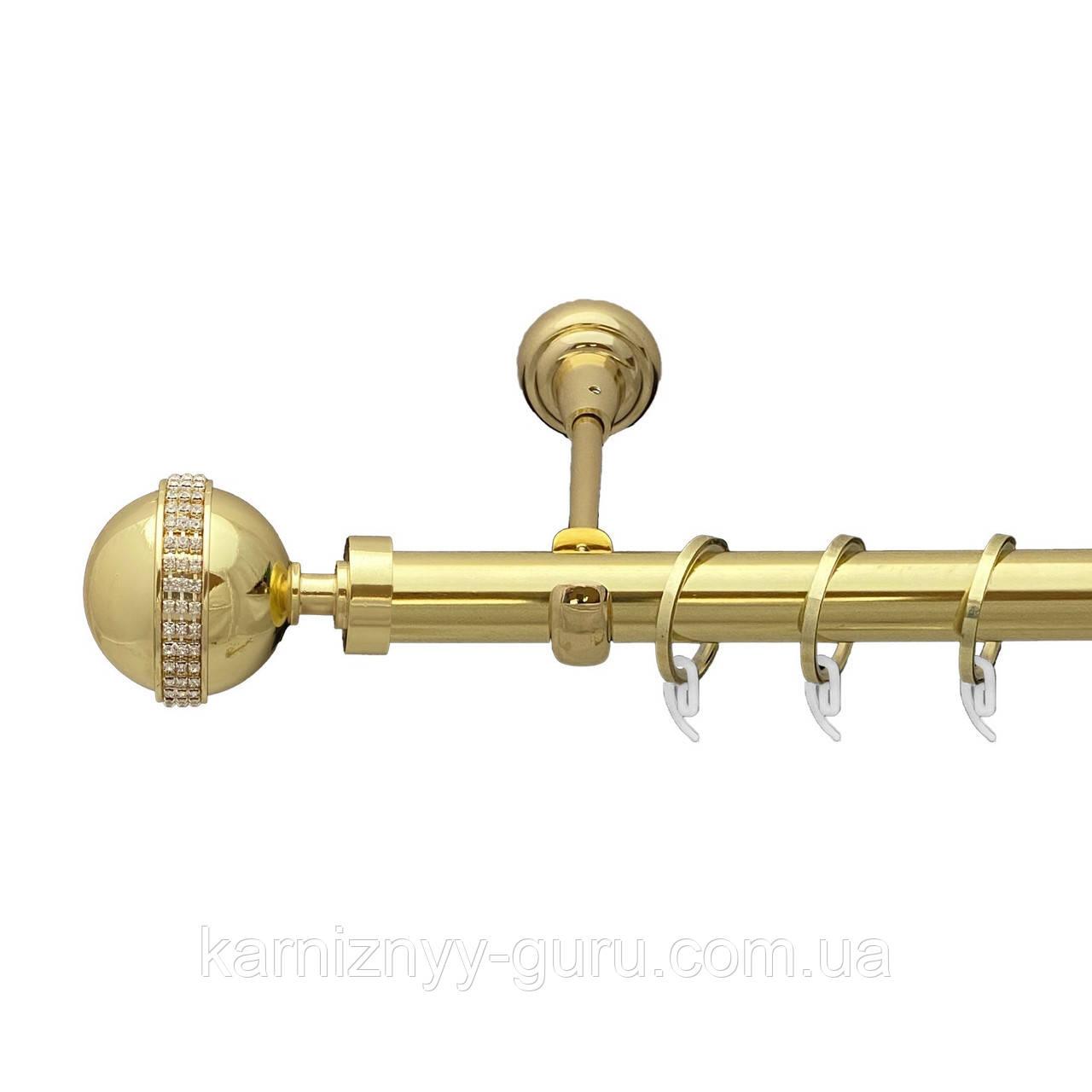 Карниз для штор ø 19 мм, одинарный, наконечник Авея