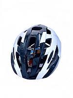 Шлем велосипедный темно-синий/белый, фото 1