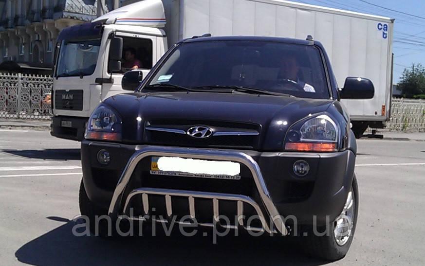 Кенгурятник двойной (защита переднего бампера) Hyundai Tucson 2004-2010