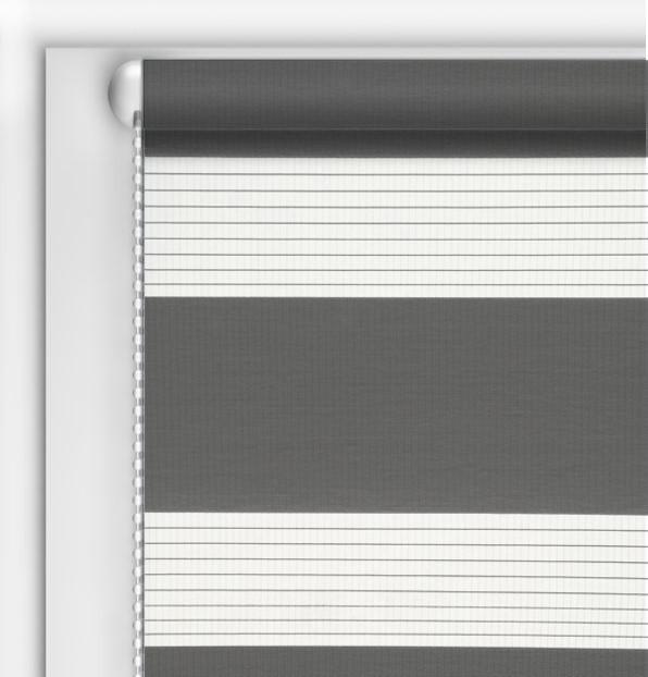 Рулонные шторы День-Ночь DIY Серый графитовый