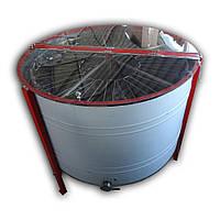 Медогонка 28-ми рамочная нержавеющая автоматическая (ременной привод) полуповоротная под рамку «Рута»