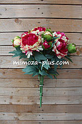 Искусственные цветы - Пион букет, 63 см